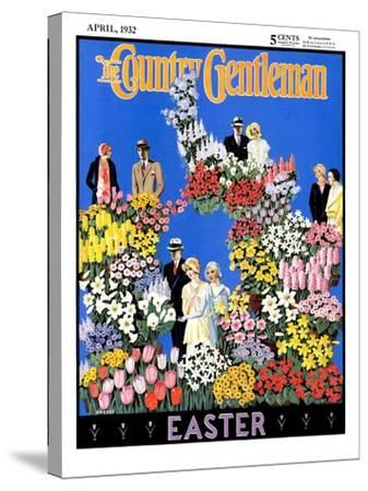 """""""Easter Flowers,"""" Country Gentleman Cover, April 1, 1932- Kraske-Stretched Canvas Print"""
