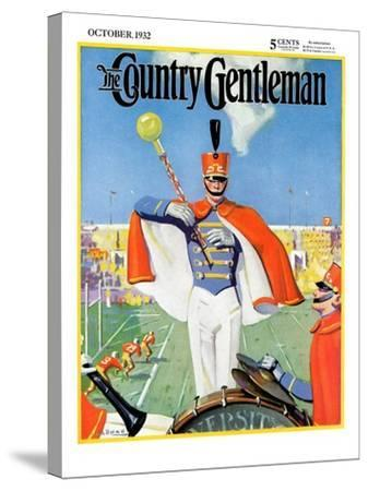 """""""Drum Major,"""" Country Gentleman Cover, October 1, 1932-Hallman-Stretched Canvas Print"""