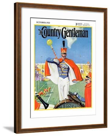 """Drum Major,"" Country Gentleman Cover, October 1, 1932-Hallman-Framed Giclee Print"