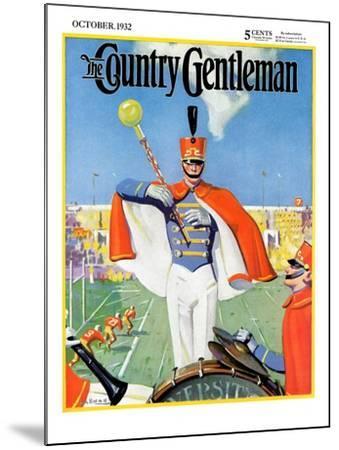 """Drum Major,"" Country Gentleman Cover, October 1, 1932-Hallman-Mounted Giclee Print"