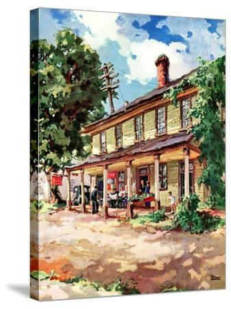 """""""Country Inn,""""September 1, 1939-G. Kay-Stretched Canvas Print"""