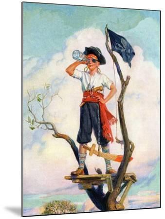 """""""Playing Pirate,""""March 1, 1929-William Meade Prince-Mounted Giclee Print"""