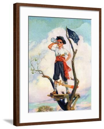 """""""Playing Pirate,""""March 1, 1929-William Meade Prince-Framed Giclee Print"""