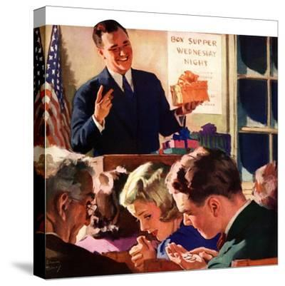 """Box Supper Night,""January 1, 1941--Stretched Canvas Print"