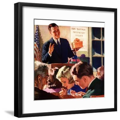 """Box Supper Night,""January 1, 1941--Framed Giclee Print"