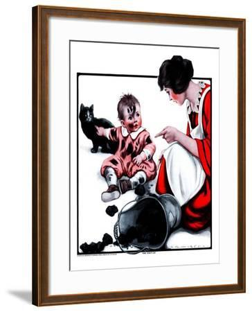 """Passing the Blame,""February 24, 1923-Katherine R^ Wireman-Framed Giclee Print"