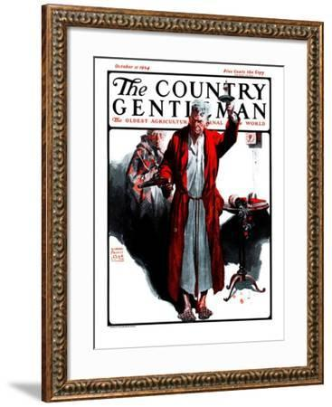 """""""Something Went Bump in the Night,"""" Country Gentleman Cover, October 11, 1924-William Meade Prince-Framed Giclee Print"""