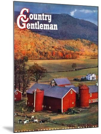 """""""Red Barns and Silos,"""" Country Gentleman Cover, October 1, 1949-W^C^ Griffith-Mounted Giclee Print"""