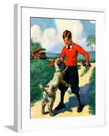"""""""School's Out,""""June 1, 1930-Ray C. Strang-Framed Giclee Print"""