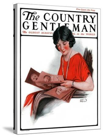 """""""Baby Photos,"""" Country Gentleman Cover, December 6, 1924-Sam Brown-Stretched Canvas Print"""
