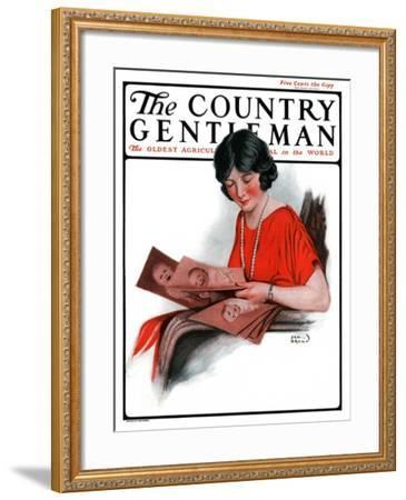 """""""Baby Photos,"""" Country Gentleman Cover, December 6, 1924-Sam Brown-Framed Giclee Print"""