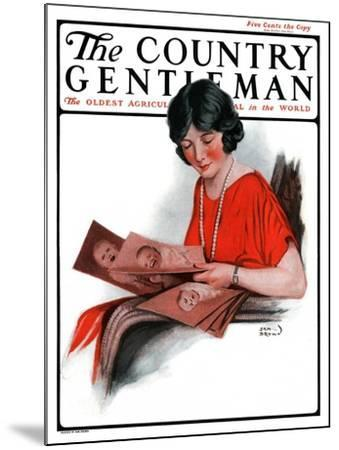 """""""Baby Photos,"""" Country Gentleman Cover, December 6, 1924-Sam Brown-Mounted Giclee Print"""