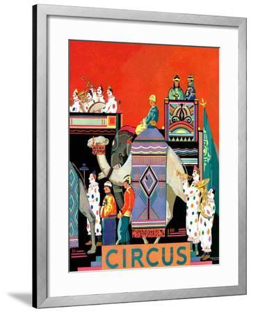 """Circus Parade,""May 1, 1931- Kraske-Framed Giclee Print"