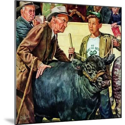 """Cattle Judging,""November 1, 1946-W^C^ Griffith-Mounted Giclee Print"