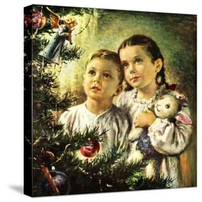 """Christmas Angel,""December 1, 1948-George Garland-Stretched Canvas Print"