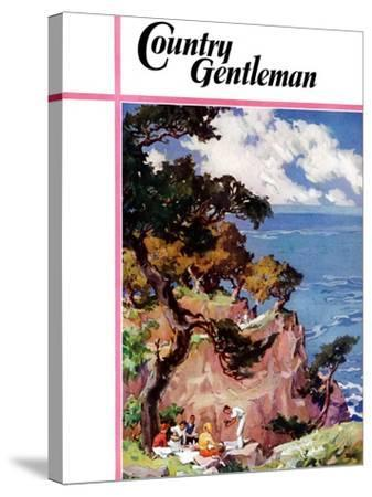 """""""Oceanside Picnic,"""" Country Gentleman Cover, February 1, 1939-G. Kay-Stretched Canvas Print"""
