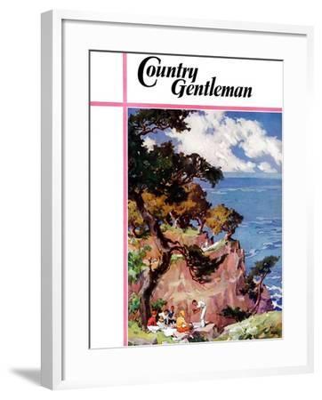 """Oceanside Picnic,"" Country Gentleman Cover, February 1, 1939-G. Kay-Framed Giclee Print"