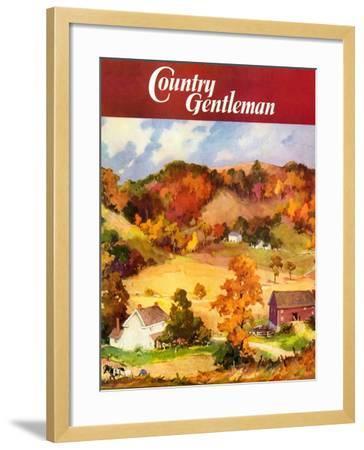 """Farm Landscape,"" Country Gentleman Cover, November 1, 1940--Framed Giclee Print"