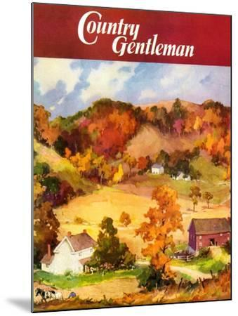 """""""Farm Landscape,"""" Country Gentleman Cover, November 1, 1940--Mounted Giclee Print"""