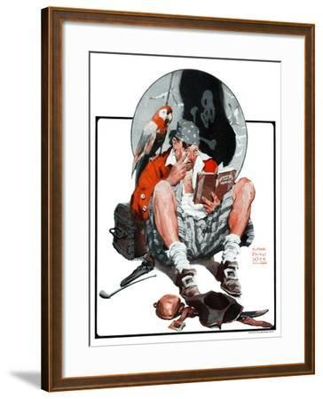 """""""Pirate's Love Story,""""January 24, 1925-William Meade Prince-Framed Giclee Print"""