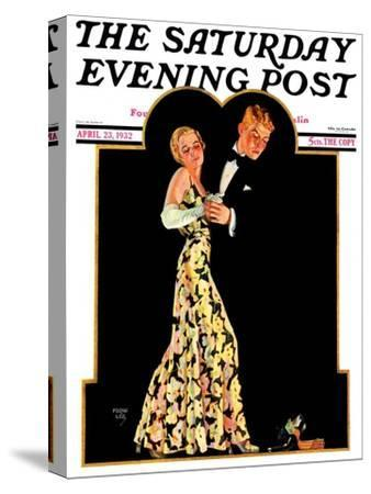 """""""Lost Suspender,"""" Saturday Evening Post Cover, April 23, 1932-Frank Lea-Stretched Canvas Print"""