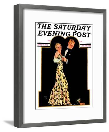 """""""Lost Suspender,"""" Saturday Evening Post Cover, April 23, 1932-Frank Lea-Framed Giclee Print"""