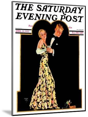 """""""Lost Suspender,"""" Saturday Evening Post Cover, April 23, 1932-Frank Lea-Mounted Giclee Print"""