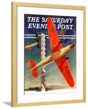 """""""Airshow,"""" Saturday Evening Post Cover, September 4, 1937-Clayton Knight-Framed Giclee Print"""