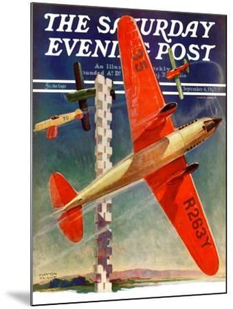 """""""Airshow,"""" Saturday Evening Post Cover, September 4, 1937-Clayton Knight-Mounted Giclee Print"""