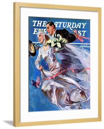 """Wedding Day,"" Saturday Evening Post Cover, June 24, 1939-John LaGatta-Framed Giclee Print"