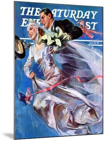 """Wedding Day,"" Saturday Evening Post Cover, June 24, 1939-John LaGatta-Mounted Giclee Print"