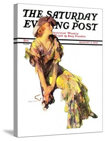 """Summer Frock,"" Saturday Evening Post Cover, August 3, 1935-Guy Hoff-Stretched Canvas Print"