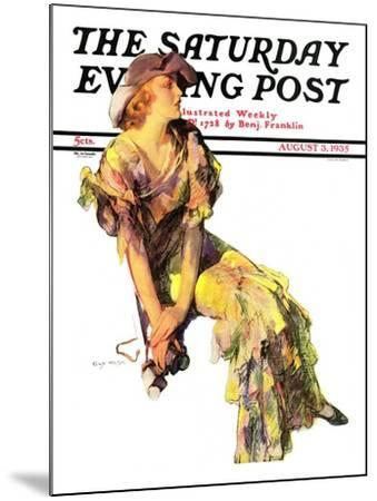 """Summer Frock,"" Saturday Evening Post Cover, August 3, 1935-Guy Hoff-Mounted Giclee Print"