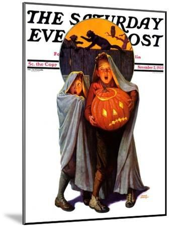 """""""Halloween Scare,"""" Saturday Evening Post Cover, November 2, 1935-Frederic Stanley-Mounted Giclee Print"""