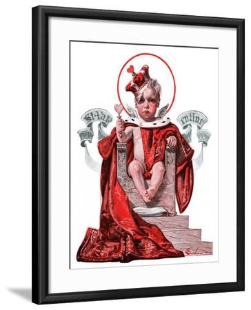 """Baby King Valentine,""February 14, 1925-Elbert Mcgran Jackson-Framed Giclee Print"