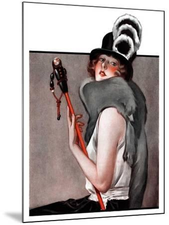 """""""Woman with Baton,""""February 28, 1925-Roy Best-Mounted Giclee Print"""