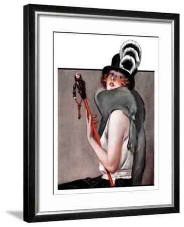 """""""Woman with Baton,""""February 28, 1925-Roy Best-Framed Giclee Print"""