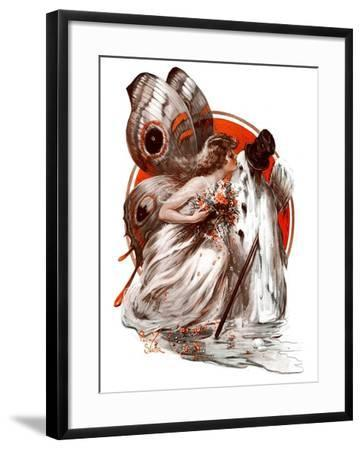 """""""Kissing Winter Goodby,""""March 7, 1925-Paul Stahr-Framed Giclee Print"""