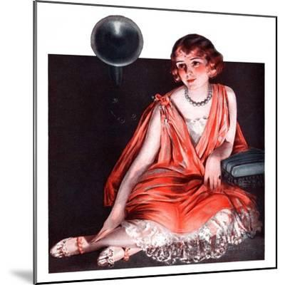 """""""Woman and Phonograph,""""March 21, 1925-Pearl L^ Hill-Mounted Giclee Print"""