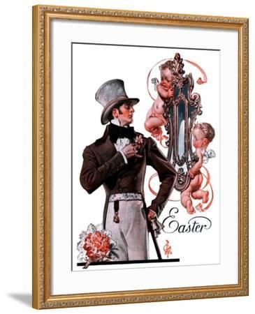 """""""Easter Finery,""""April 11, 1925-Joseph Christian Leyendecker-Framed Giclee Print"""