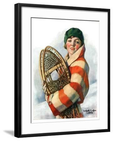 """""""Woman and Snowshoes,""""January 26, 1929-William Haskell Coffin-Framed Giclee Print"""
