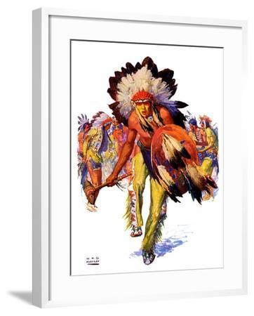 """""""Dancing Warrior,""""April 4, 1936-William Henry Dethlef Koerner-Framed Giclee Print"""