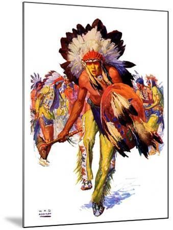 """""""Dancing Warrior,""""April 4, 1936-William Henry Dethlef Koerner-Mounted Giclee Print"""
