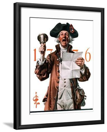 """Town Crier,""July 4, 1925-Joseph Christian Leyendecker-Framed Giclee Print"