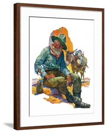 """""""Old Miner,""""April 6, 1929-Edgar Franklin Wittmack-Framed Giclee Print"""