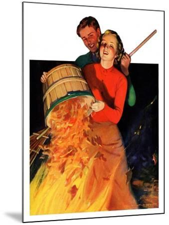 """""""Bonfire,""""December 12, 1936-John Newton Howitt-Mounted Giclee Print"""