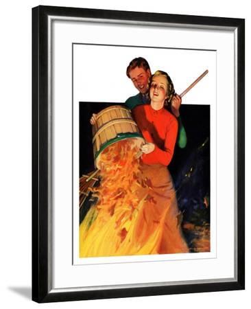 """""""Bonfire,""""December 12, 1936-John Newton Howitt-Framed Giclee Print"""