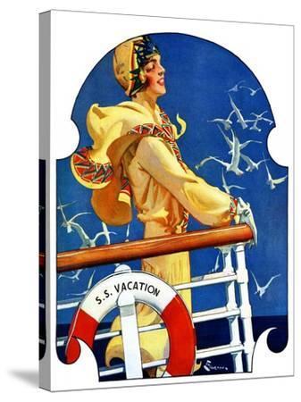 """S. S. Vacation,""July 20, 1929-Elbert Mcgran Jackson-Stretched Canvas Print"