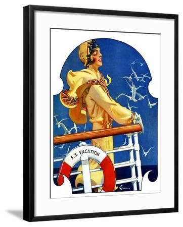 """S. S. Vacation,""July 20, 1929-Elbert Mcgran Jackson-Framed Giclee Print"