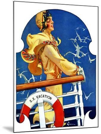 """S. S. Vacation,""July 20, 1929-Elbert Mcgran Jackson-Mounted Giclee Print"